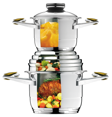 Stackable Zepter Masterpiece Cookware system