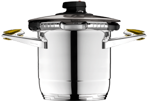 Syncro-Clik® is the special Zepter device which turns a Zepter pot into a high-tech pressure cooker